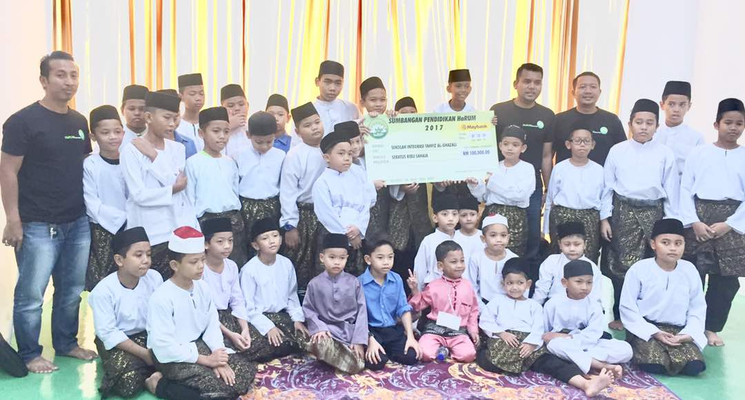 Mock Up Cheque Presentation Ceremony At Alghazali School