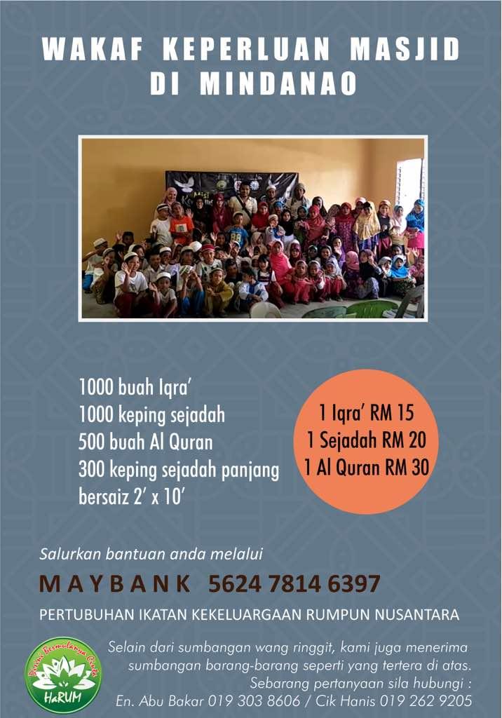 Projek Waqaf Keperluan Masjid Di Mindanao.