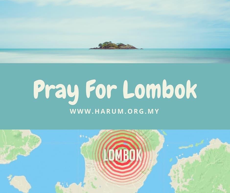 """""""PRAY FOR LOMBOK'"""